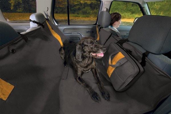 Kurgo wasserdichte Hunde Hängematte Auto-Sitzbezug für Rückbank von Autos für Hunde und Haustiere