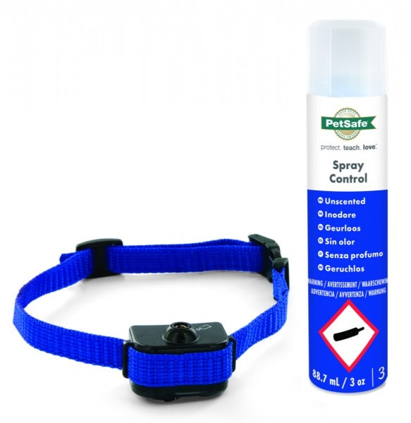 PetSafe Bellkontrolle mit Spray, Antibell-Sprühhalsband für kleine Hunde