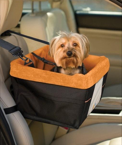 Kurgo Skybox Autositz, Auto - Sitzerhöhung für Hunde und Haustiere - inkl. Hund Sicherheitsgurt